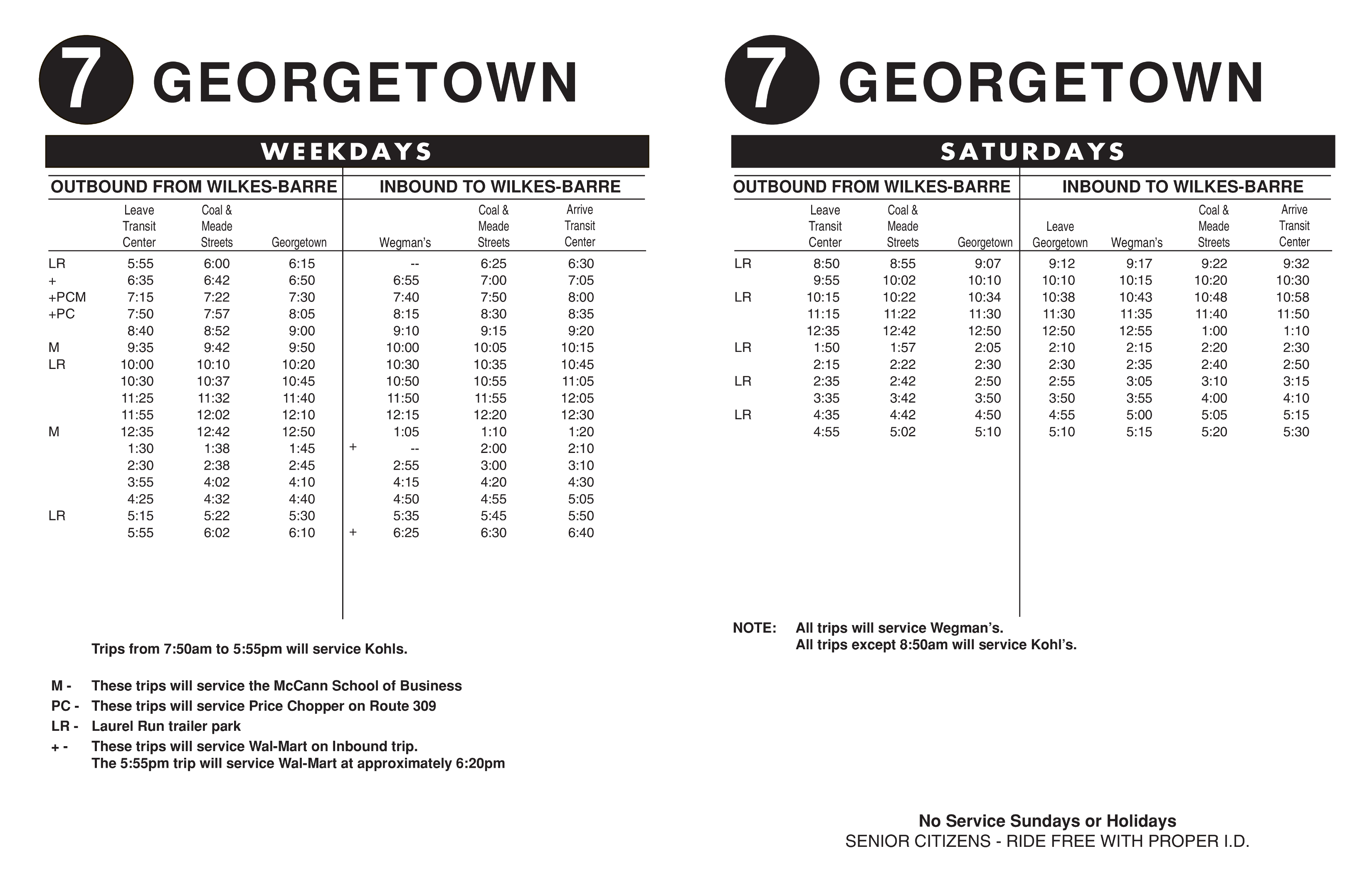 7 – Georgetown – LCTA